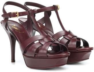 Saint Laurent Tribute 75 leather sandals