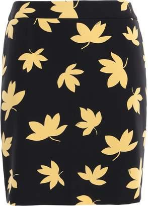 Versace Floral-print Stretch-crepe Mini Skirt