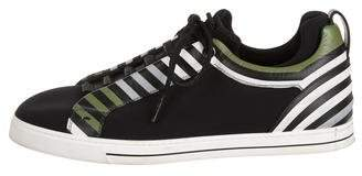 Fendi Neoprene Low-Top Sneakers