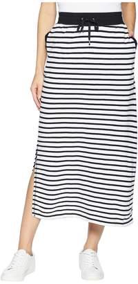 Lauren Ralph Lauren Striped French Terry Maxi Skirt Women's Skirt