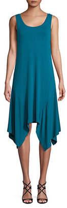 Halston H Handkerchief Jersey Tank Dress