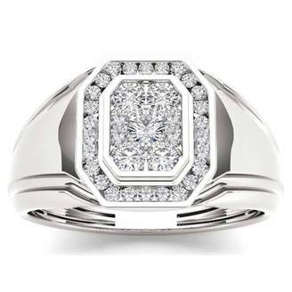 Imperial Diamond Imperial Men's 1/2 Carat T.W. Diamond 10kt White Gold Engagement Ring