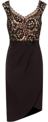 Dorothy Perkins Womens **Little Mistress Black Lace Bodice Wrap Dress