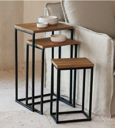 Railroad Tie Nesting Tables (set of 3)