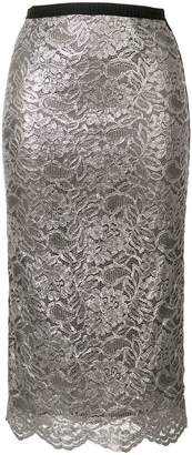 Antonio Marras metallic lace skirt