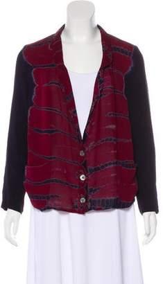 Raquel Allegra Tie-Dye Silk Blazer