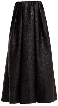 Simone Rocha Strapless Crinkled Effect Taffeta Dress - Womens - Black