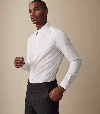 Reiss Gianna Cotton Stretch Slim Fit Shirt
