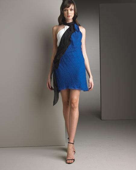 Nina Ricci Draped Silk Dress