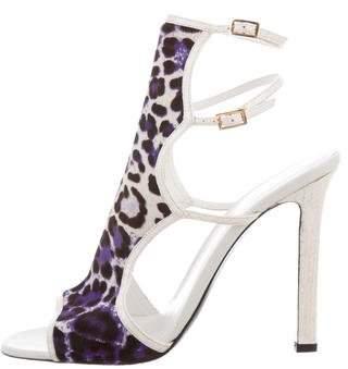 Tamara Mellon Ponyhair a & Snakeskin Cage Sandals