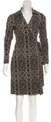 Calvin Klein Silk Wrap Dress
