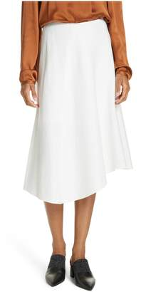 Vince Asymmetric Hem Linen & Cotton Skirt