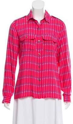 Vanessa Seward Printed Button-Up Top