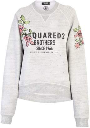 DSQUARED2 Grey Embellished Sweatshirt