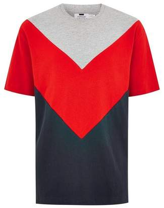 Topman Mens Red Chevron T-Shirt
