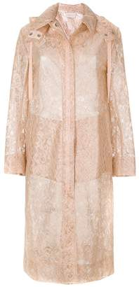 Christopher Kane plastic lace raincoat