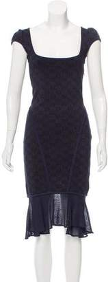 Zac Posen Checker Pattern Knit Dress
