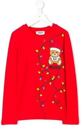 Moschino Kids Christmas Teddy print T-shirt