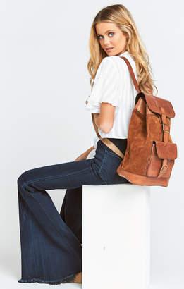 Show Me Your Mumu Pamela V ~ Floral Detail Backpack ~ Cognac