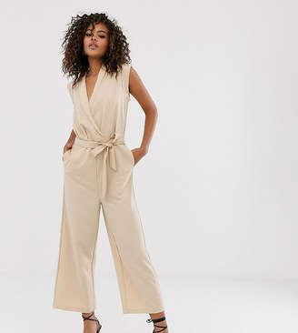Y.A.S Tall wrap sleeveless jumpsuit
