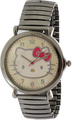 Hello Kitty MZ BURGER Jumbo Face Women's HK1402 Tone Stretch band Watch