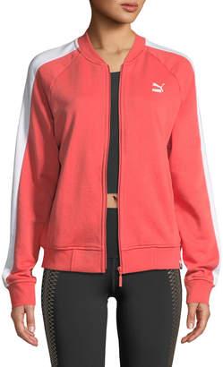 Puma Classics Logo T7 Track Jacket, Orange