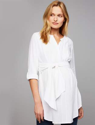A Pea in the Pod Convertible Sleeve Maternity Shirt