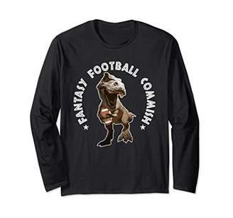 Fantasy Football Long sleeve T Shirt Commish Tyrannosaurus