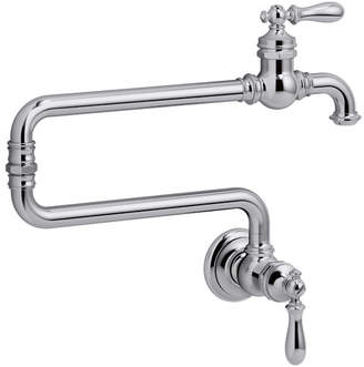 """Kohler Artifacts Single-Hole Wall-Mount Pot Filler with 22"""" Extended Spout"""