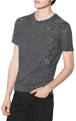John Varvatos Place Flowers Crew Neck T-Shirt