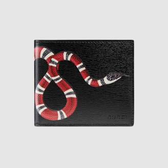 Gucci Bee print GG Supreme wallet