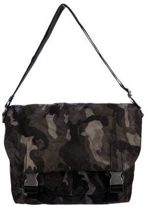 0e0662d64d ... wholesale pre owned at therealreal prada tessuto camouflage messenger  bag bc6c6 3af44