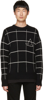 McQ Alexander McQueen Black 'End' Grid Sweater $370 thestylecure.com
