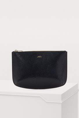 A.P.C. Sarach leather clutch
