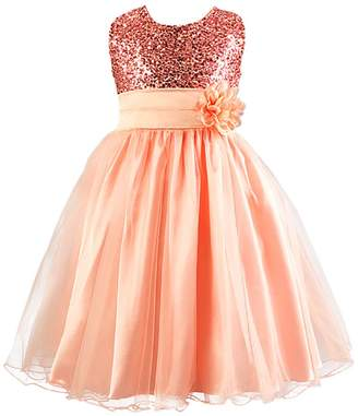 FREE FISHER Flower Girls Dress for Wedding Party with Sequins 150