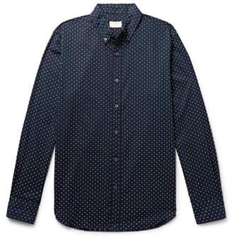 Club Monaco Slim-Fit Button-Down Collar Polka-Dot Cotton Shirt