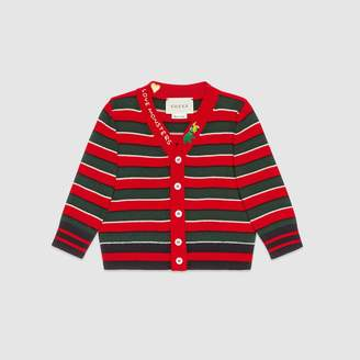 Gucci Baby embroidered wool cardigan