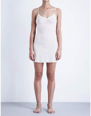 Bodas Sheer Tactel slip dress