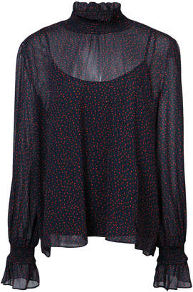 Just Female Asta sheer blouse