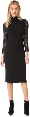 alice + olivia Kala Turtleneck Lace Sleeve Dress $295 thestylecure.com