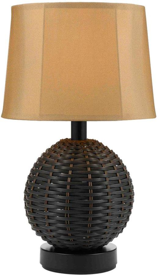 AF LightingAF Lighting 23-1/2 in. Portico Brown Outdoor/Indoor Table Lamp with Gold Shade