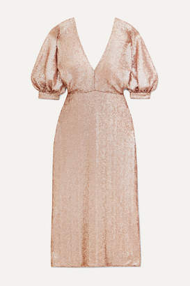 Costarellos Sequined Crepe Dress - Gold