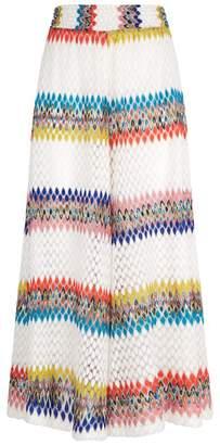 Missoni Mare Crochet Knit Wide Leg Trousers