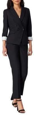 Tahari Arthur S. Levine Petite Double-Breasted Peak Lapel Pant Suit