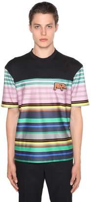 Prada Light Cotton Striped T-Shirt W/Logo