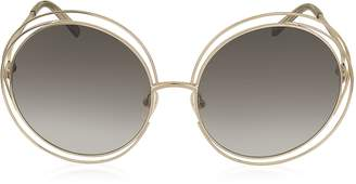 Chloé CARLINA CE 114S Metal Oval Women's Sunglasses