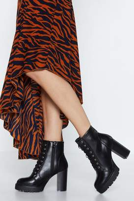 Nasty Gal Set the Lace Hiker Boot