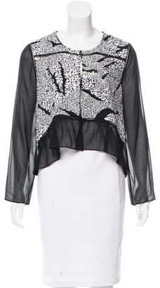 Thakoon Sequin-Embellished Silk Cardigan w/ Tags