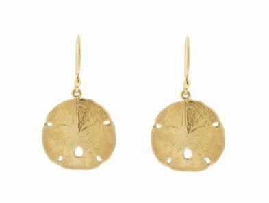 Jamie Joseph Sand Dollar Earrings in Gold