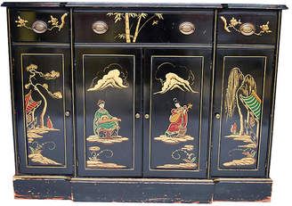 One Kings Lane Vintage Chinoiserie Small Buffet - West Fifth